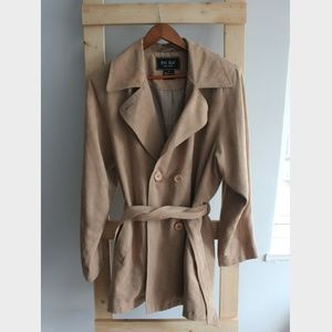 FUDA New York Suede-like Trench Jacket